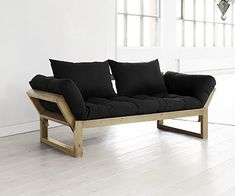 Your modern organic design aesthetic and boho chic lifestyle make this Fresh Futon Edge Natural Wood Convertible Futon Sofa perfect for you. This futon. Futon Bunk Bed, Futon Bedroom, Futon Sofa Bed, Futon Mattress, Comfort Mattress, Daybed, Futon Frame, My Living Room, Chairs