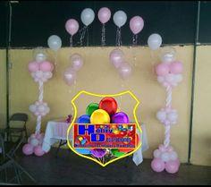 Arco de globos bautizo, baby shower