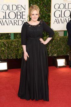 Celebrities en la alfombra roja de la 70 edición de los Globos de Oro: Adele de Burberry