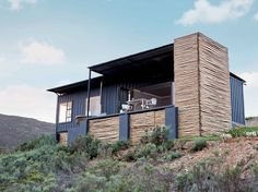Shipping Container Homes: Copia Eco Cabins: Two 40 ft Container Home in Bot Rivier valley by Berman-Kalil, South Africa Container Buildings, Container Architecture, Architecture Design, Sustainable Architecture, Container Home Designs, Shipping Container House Plans, Shipping Containers, Eco Cabin, Eco Friendly House