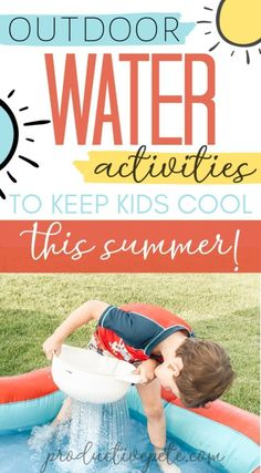 If the summer heat has you searching for ways to keep your kids cool, then check out these fun outdoor water activities for kids! Water play ideas that will work for toddlers to older kids. Make your backyard the funnest around with these simple activities for kids. #summer #tweens #preschool #kidsactivities