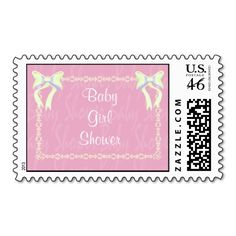 Sold! #BabyGirl Shower Light Pink stamp with #Customizable text by #PLdesign #BabyGirlShower #BabyShower #PinkBabyShower #BabyShowerStamp