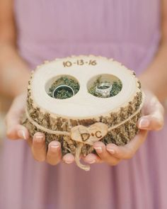 Ring cushions are a thing of the past. These unique custom cases are truly one of the best wedding keepsake you could get. #bridalmusings #bmloves #wedding #weddingring #keepsake Rustic Ring Bearers, Ring Bearer Box, Wedding Ring Cushion, Cushion Ring, Altar, Country Wedding Rings, Wood Pen Holder, Wedding Book, Wedding Ideas