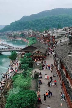 """This episode of """"Ancient Charm of China"""" takes you to an extraordinarily well-preserved ancient town in central China's Hunan Province, praised as """"the most beautiful town in China"""" by New Zealand-born writer Rewi Alley. Beautiful Places To Travel, Cool Places To Visit, Nature Photography, Travel Photography, Night Photography, Landscape Photography, China Travel, Vacation Places, Travel Aesthetic"""
