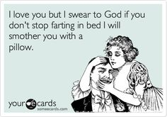 A threat my husband should be used to by now. LOL