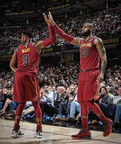 Dwayne Wade and Lebron James Cleveland Cavaliers
