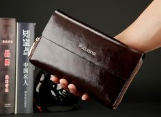 (38.39$)  Buy here - http://ai9gy.worlditems.win/all/product.php?id=32502845886 - Fashion Black / Blue / Coffee Split Leather Men Clutch Bags Luxury Business Male Purse Wallets Men's Clutch Card Holder #P600368