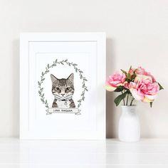 Custom Pet Portrait. Pet Portrait. Custom Cat Portrait. Pet