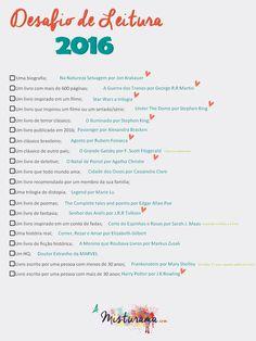 Quer um desafio de leitura divertido para 2016? Preparei um esperto para todo mundo curtir!  http://www.amisturama.com/2016/01/meta-de-leitura.html