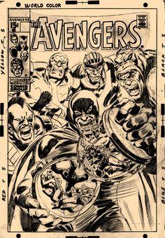 Avengers Cover Art By John Buscema