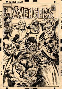 Avengers Cover Art By John Buscema