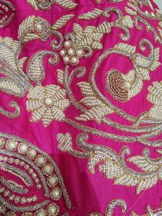 Bxj Zardosi Embroidery, Hand Embroidery Dress, Bead Embroidery Patterns, Lace Patterns, Beaded Embroidery, Embroidery Designs, Embroidery Blouses, Embroidery Suits, Hand Work Design