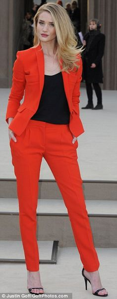 Women: I'm not a big fan of business suits (I'm 5'1 & curvy so they make me look short/stout) but I'm loving this color!