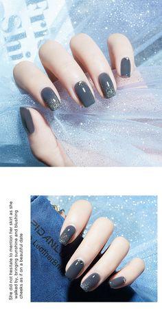 Cute Gel Nails, Cute Nail Polish, Soft Nails, Pretty Nails, Cute Nail Art Designs, Gel Nail Designs, Korean Nail Art, Gel Acrylic Nails, Kawaii Nails