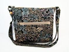 Ferns Handmade Fabric Purse / Cross Body Handbag / Zippered by darlingsdesigns on Etsy