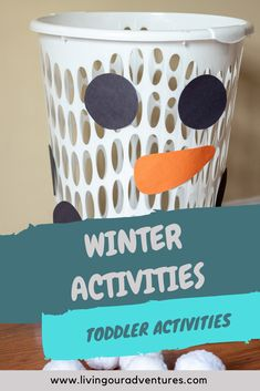 In Daycare/Tot School we have been reading tons of winter books and have enjoyed playing with all things white and wintery. Our kiddos loved these Winter Activities for Toddlers. Toddler Activities Daycare, Winter Activities For Toddlers, Childcare Activities, Toddler Themes, Lesson Plans For Toddlers, Christmas Activities For Kids, Infant Activities, Winter Toddler Crafts, Preschool Winter