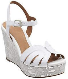 2417692e92f Clarks Artisan Floral Print Wedge Sandals -Amelia Page Clark Wedges