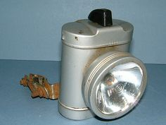 1970s Ever Ready Bicycle Front Light / Lamp with Handle Bar Mount - Made in England. $45.00, via Etsy.