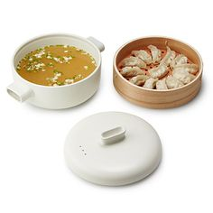 This sleek steamer set gives an ancient cooking technique a contemporary touch.