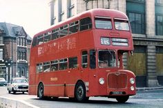 BMMO D9, Town End Walsall 1975 Blue Bus, Red Bus, City Of Birmingham, Routemaster, Walsall, Double Decker Bus, Bus Coach, London Bus, Busses
