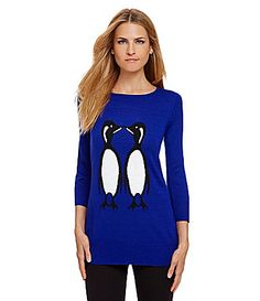 Cupio Penguin Sweater #Dillards