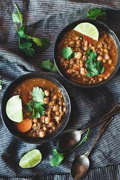 Lentil and Coconut Curry Stew by the little red house