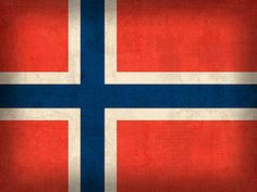 Norway Flag Art - Norway Flag Distressed Vintage Finish by Design Turnpike