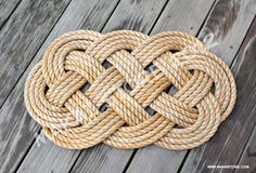 Nautical Doormat // Medium 16 x 26 approx by MakaiStore on Etsy