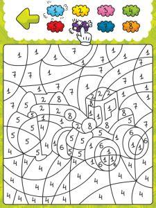leerzame kleurplaten plaatsen waarmee kinderen de getallen