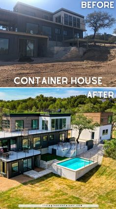 Shipping Container Home Designs, Container House Design, Small House Design, Dream Home Design, Shipping Containers, Cargo Container Homes, Building A Container Home, Container Buildings, Container Architecture
