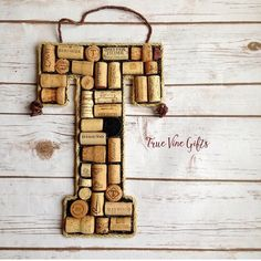Hey, I found this really awesome Etsy listing at https://www.etsy.com/listing/258557106/the-t-wine-cork-letter