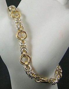 Byzantine Rose Silver/Gold Bracelet - via @Craftsy