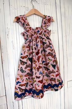 Girls Size 4 Handmade Meadow Dress  Ready to by TwoPinkFlamingos2, $45.00