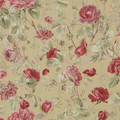 Ralph Lauren: MARSTON GATE FLORAL -TEA Wallpaper - PRL705/06  This trailing rose and leaf wallpaper pattern perfectly captures the spirit of an English country garden in full bloom.