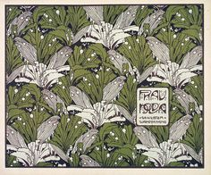 Frau Nolda by Koloman Moser, 1901. Design for a woven textile wall hanging, one of a series of flat patterns he published as Die Quelle (The Source)   V & A Museum