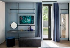 Take Time Is a Home Near Brescia Filled With Hues of Blue and Grey Time Pictures, Ligne Roset, Story House, Interior Design Studio, Ground Floor, Bold Colors, Loft, Contemporary, Gallery