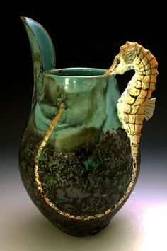 Love the detail on this....seahorse pitcher - 023seah