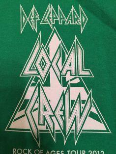 DEF LEPPARD Shirt ROCK OF AGES Tour CONCERT Local Sound CREW T-SHIRT XL Green #AlstyleApparelActivewear #LocalCrewShirt