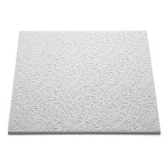 Dalle de plafond T 107, 50 x 50 cm, ép. 10 mm, polystyrène expansé, lot de 2m²