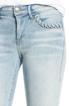 Main Image - True Religion Brand Jeans Halle Super Skinny Jeans (Cloud Nine)