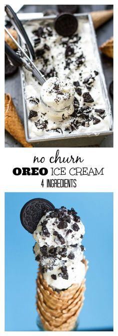 Oreo Ice Cream, Ice Cream Cookies, Ice Cream Desserts, Frozen Desserts, Ice Cream Recipes, Frozen Treats, Sugar Cookie Recipe No Chill, Sugar Cookies Recipe, Cookie Recipes