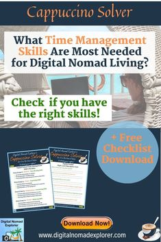 What Time Management Skills are Most Needed for Digital Nomad Living? Travel Jobs, Work Travel, Time Management Skills, Job Work, Work From Home Tips, Digital Nomad, Virtual Assistant, Traveling By Yourself, Blogger Lifestyle