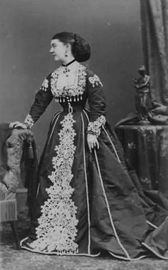 Susan Pelham-Clinton, Mistress of Edward VII from 1864 to until about 1871. She may have given birth to his child in 1871, but the child died and she died in 1875, without ever telling who the father was.