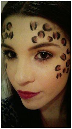 Cheetah Makeup! Halloween.