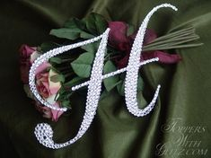 Toppers With Glitz Single Initial Cake Topper Marilyn - Crystal