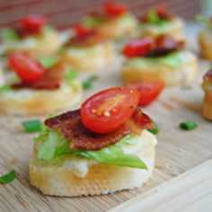 BLT Crostini - a BLT in appetizer form!