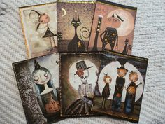 Samhain/Halloween ATC Cards Set of 6. Starting at $12 on Tophatter.com!