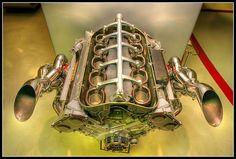 The monster Ferrari Formula 1 V-10 engine