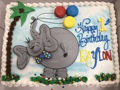 Elephant booty cake - I love these cakes because they are so dimensional with buttercream - AMAZING