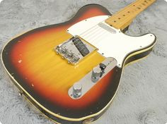Superb transitional logo and very rare Telecaster Custom in sunburst with that classic bound body is a very nice guitar to own, especially one that seems to defy gravity like this one